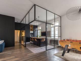 Cozinhas minimalistas por Brengues Le Pavec architectes Minimalista