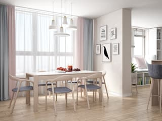 Scandinavian style dining room by Tatiana Zaitseva Design Studio Scandinavian