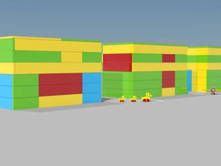 Tetris Creative por Atelier 72 - Arquitetura, Lda Minimalista