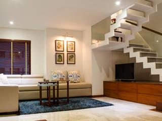 Hall Televisión Tejero & Ángel Diseño de Interiores Salas multimedia de estilo ecléctico