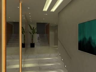 CONDOMÍNIO RA - SÃO JOSÉ SC Corredores, halls e escadas modernos por Arching - Arquitetos Associados Moderno