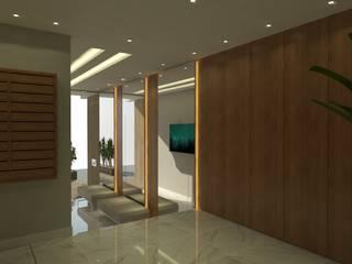 Corridor & hallway by Arching - Arquitetos Associados,