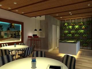 PLANTÃO DE VENDAS PDL - IMBITUBA SC Salas de jantar modernas por Arching - Arquitetos Associados Moderno