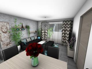 Décoration d'un appartement: Salon de style  par Crhome Design