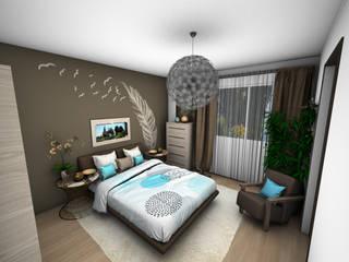 Décoration d'un appartement: Chambre de style  par Crhome Design
