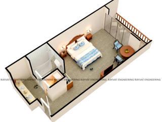 3D Floor Plan Design Services: industrial  by Rayvat Rendering Studio, Industrial