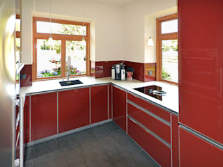 Glascouture by Schenk Glasdesign Dapur built in Kaca Red