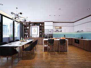 Thiết kế nội thất nhà 7 tầng - Anh Dũng bởi NỘI THẤT - 86STUDIO