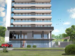 Departamentos con diseño y amplios balcones:  de estilo  por Akros S.R.L.