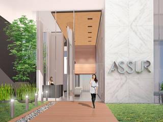 Hall de Acceso:  de estilo  por Akros S.R.L.