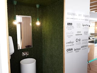 Casa de banho - ANNA´S: Espaços de restauração  por Linha D´Obra - construção e remodelação de interiores, Lda
