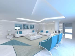 Minimalist living room by Enzo Rossi, Home Design Minimalist
