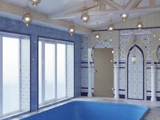 дизайн проект зоны бассейна и комнаты отдыха: Бассейн в . Автор – студия дизайна 'план и дизайн'