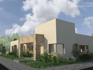 Casa Eva: Casas unifamiliares de estilo  por Borio Arquitectura y Diseño