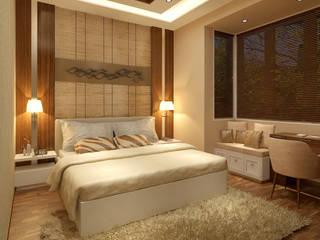 BEDROOM VIEW homify Minimalist bedroom Brown
