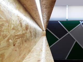 Modern bars & clubs by Linha D´Obra - construção e remodelação de interiores, Lda Modern