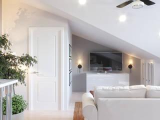 Дизайн-проект в КП Кембридж, 80 кв. м. (120 кв. м.): Медиа комнаты в . Автор – Loft&Home