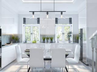 Дизайн-проект в КП Кембридж, 80 кв. м. (120 кв. м.): Кухни в . Автор – Loft&Home