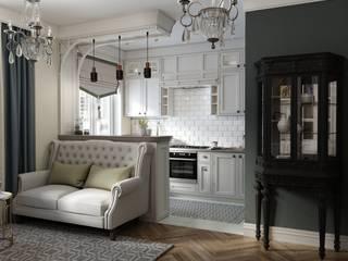 Уютная квартира на Хамовническом Валу Москва : Гостиная в . Автор – Дизайн Мира