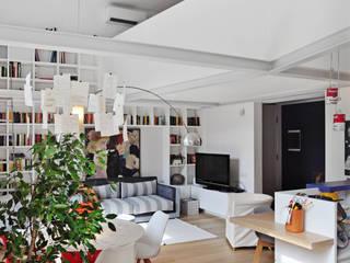 Galileo Ferraris Soggiorno moderno di G*AA - Giaquinto Architetti Associati Moderno