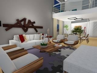 Salas de estilo moderno de Virna Carvalho Arquiteta Moderno