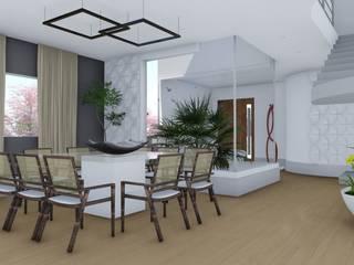 Projeto de Arquitetura Residencial : Salas de jantar  por Virna Carvalho Arquiteta,Moderno