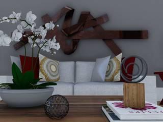 Projeto de Arquitetura Residencial : Salas de estar  por Virna Carvalho Arquiteta,Moderno