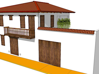Casas de estilo colonial de Heritage Design Group Colonial