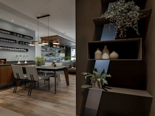 industrial style corridor, hallway & stairs by 存果空間設計有限公司 Industrial
