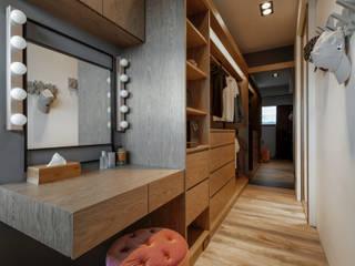 存果空間設計有限公司 Closets de estilo industrial