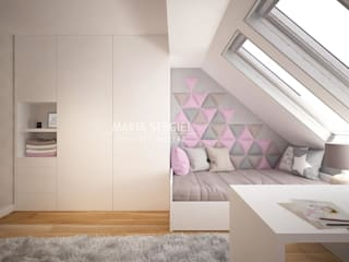 panele tapicerowane dappi w pokoju dla dziewczynki: styl , w kategorii Pokój dla dziwczynki zaprojektowany przez DAPPI