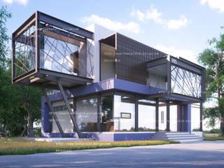 อาคารสำนักงานโครงสร้างเหล็ก:   by fewdavid3d-design