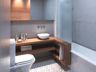 Baño para Conjunto de Viviendas NP de M + P arquitectura