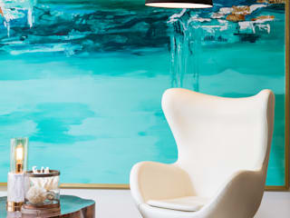 : Sala de estar  por Glim - Design de Interiores Lda
