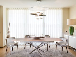 DECORAÇÃO DE APARTAMENTOS SALA DE ESTAR MODERNA :   por Glim - Design de Interiores