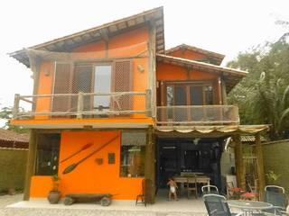 Nhà phong cách mộc mạc bởi VN Arquitetura Mộc mạc