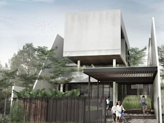 Tampak Depan:   by Spasi Architects