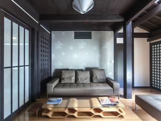 住吉の家 和風デザインの リビング の 古民家再生ネットワーク 和風