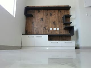 Led TV Stand Online:  Living room by Scale Inch Pvt. Ltd.