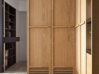 玄關-鞋櫃:  玄關、走廊與階梯 by 禾光室內裝修設計 ─ Her Guang Design