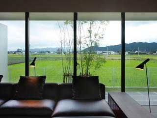 m住宅 2016.11 モダンデザインの リビング の 株式会社久住建築設計事務所 モダン