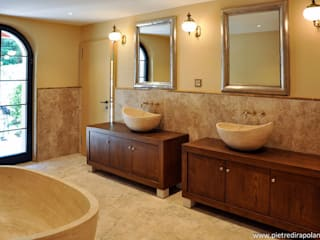 Pietre di Rapolano Modern style bathrooms Stone Beige