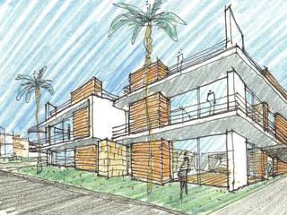 Condomínio Jardins do Rio por Maia e Moura Arquitectura Moderno