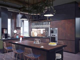 Таунхаус в КП Кембридж, 225 кв.м.: Гостиная в . Автор – Loft&Home