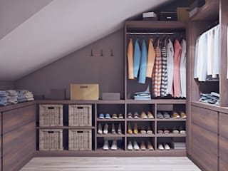Таунхаус в КП Кембридж, 225 кв.м.: Гардеробные в . Автор – Loft&Home