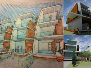 Condomínio Casas no Jardim por Maia e Moura Arquitectura Moderno