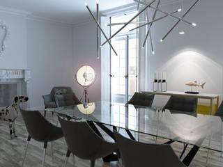 Madrid Penthouse Lendworks Comedores de estilo moderno