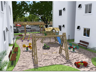 Parque das Cerejeiras: Condomínios  por Abrahão de Oliveira | Arquitetura & Construção