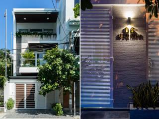 Häuser von Cty TNHH MTV Kiến trúc, Xây dựng Phạm Phú & Cộng sự - P+P Architects, Modern