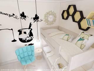 Projekty,  Pokój dziecięcy zaprojektowane przez Carolina Mendes - Arquitetura & Design